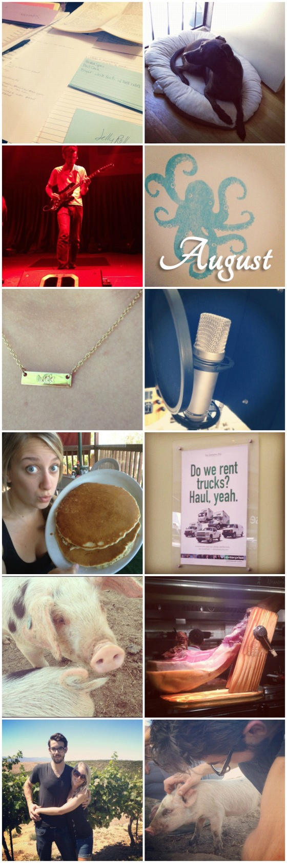 August Instagram Collage
