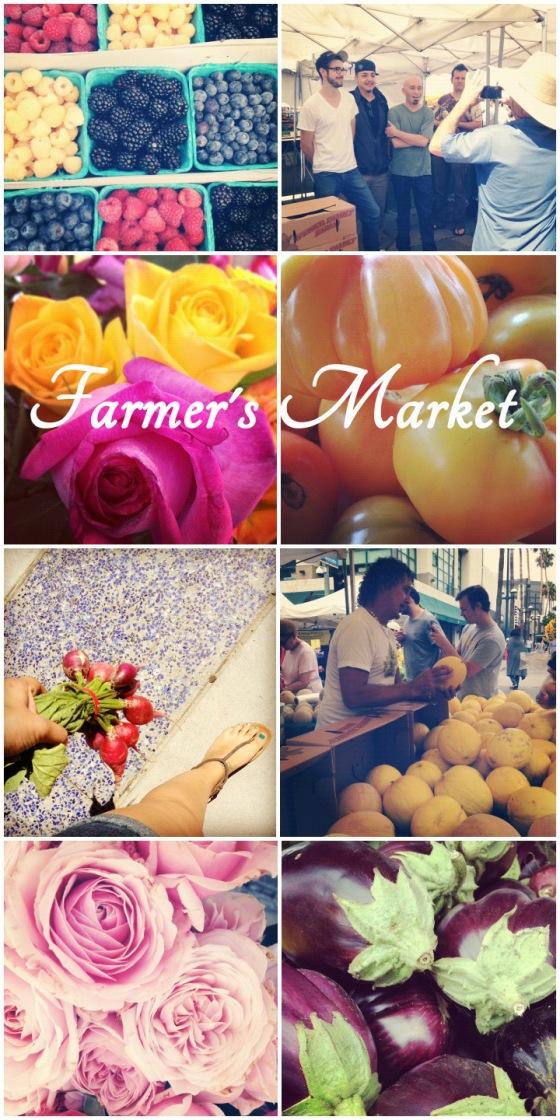 Santa Monica Farmer's Market in August