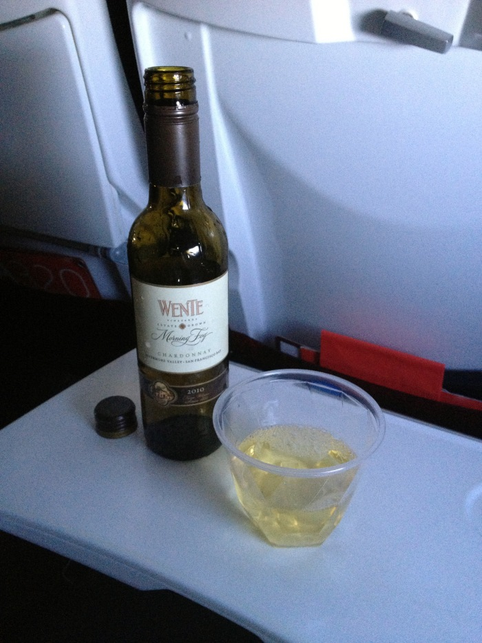 virgin airlines upgraded chardonnay