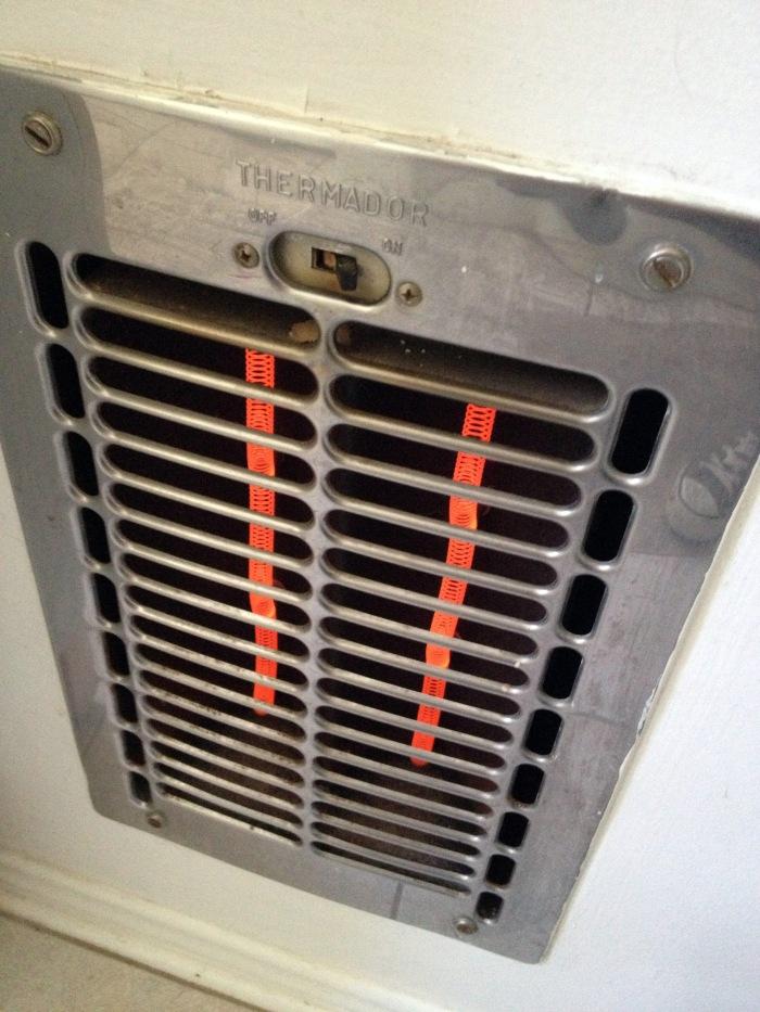 crazy bathroom heater