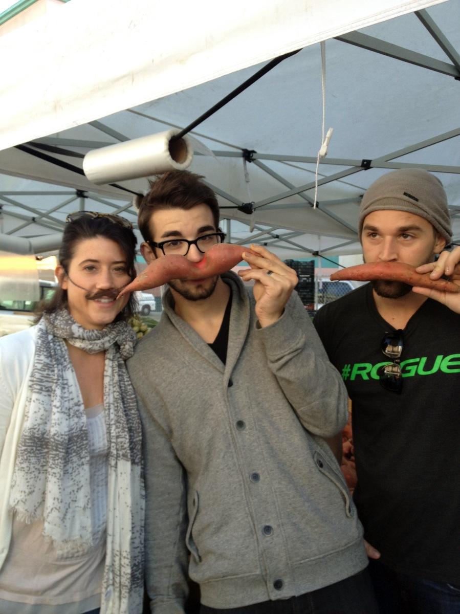 sweet potato mustaches