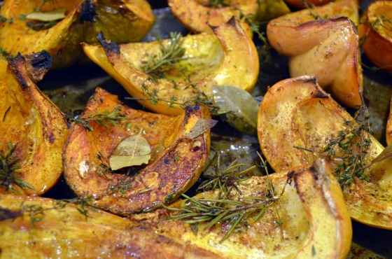 squash with herbs