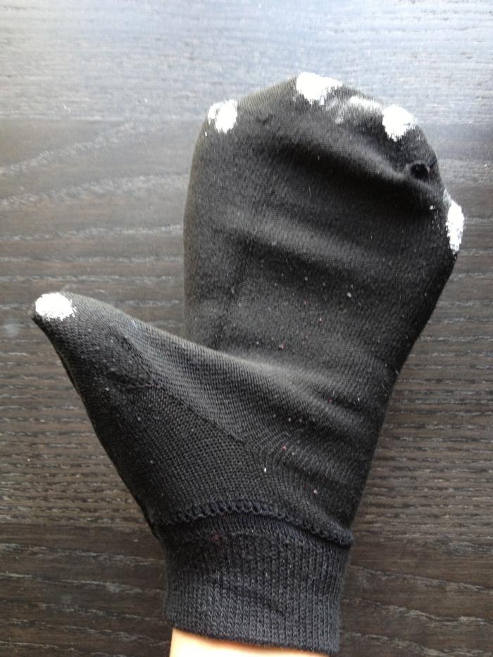 sock hand w flour