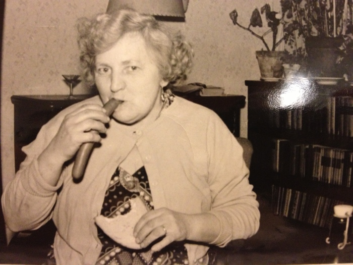 great grandma w sausage