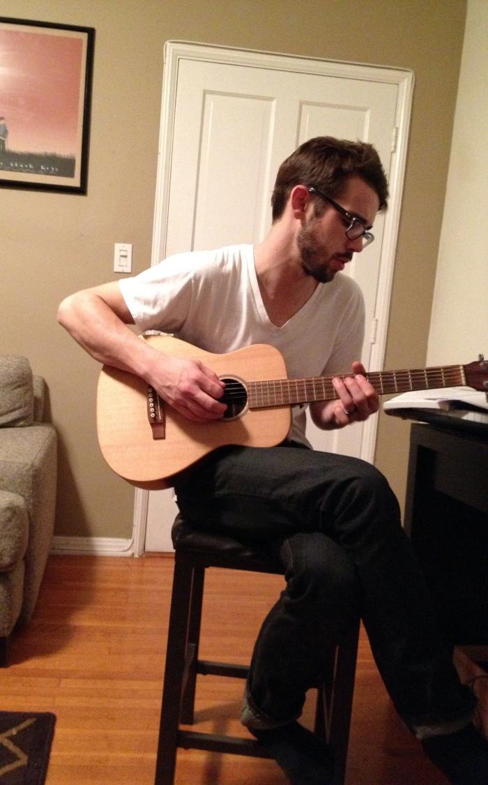 brad and guitar
