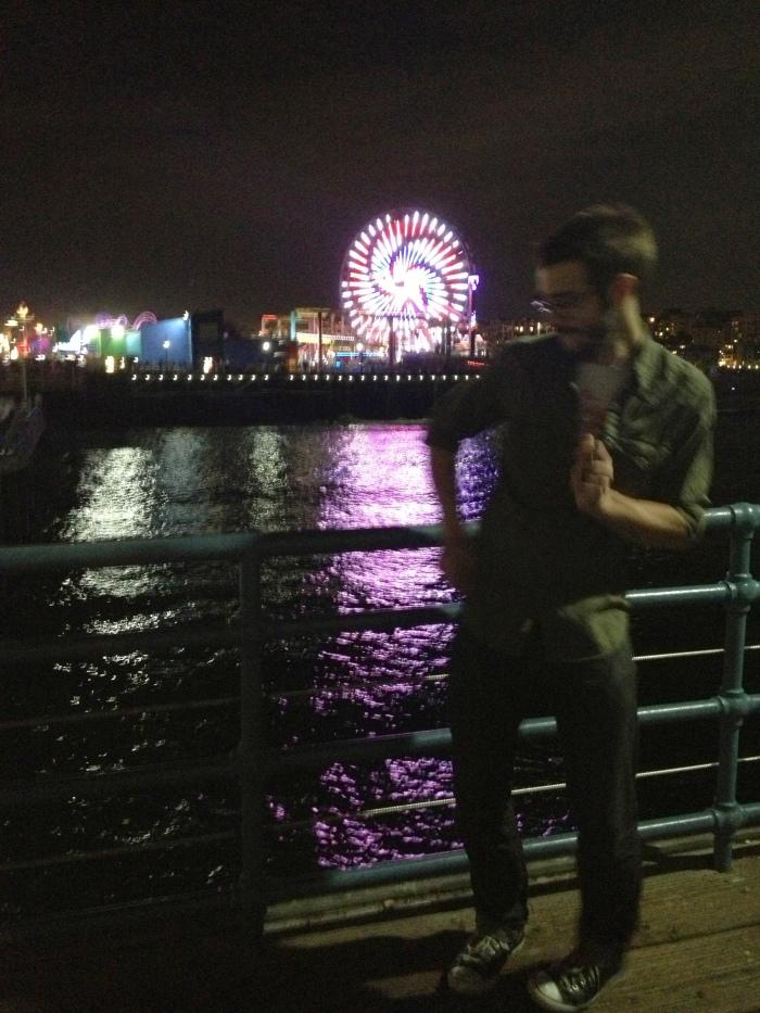 brad dancing at pier