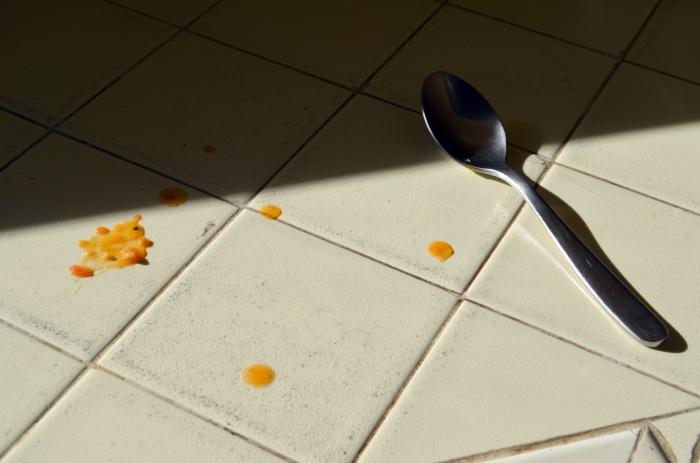 tomato sauce mess