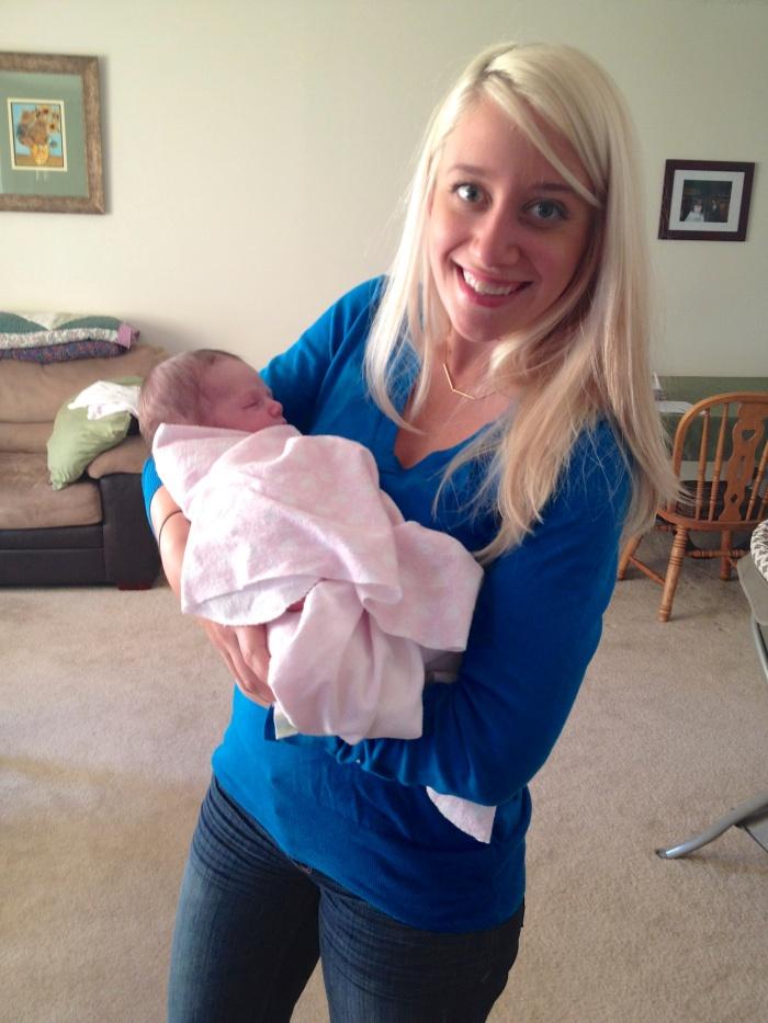 Holding Baby Annie