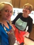 selfie w mom in aprons