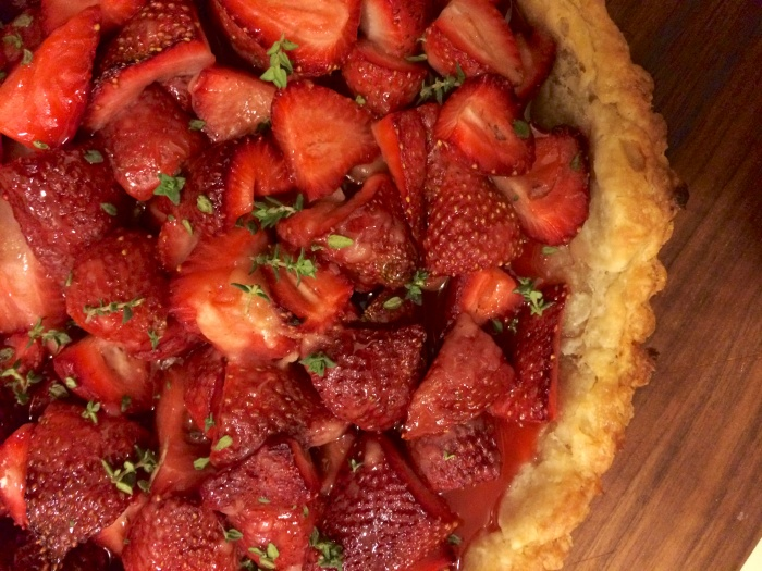 strawberry thyme tart