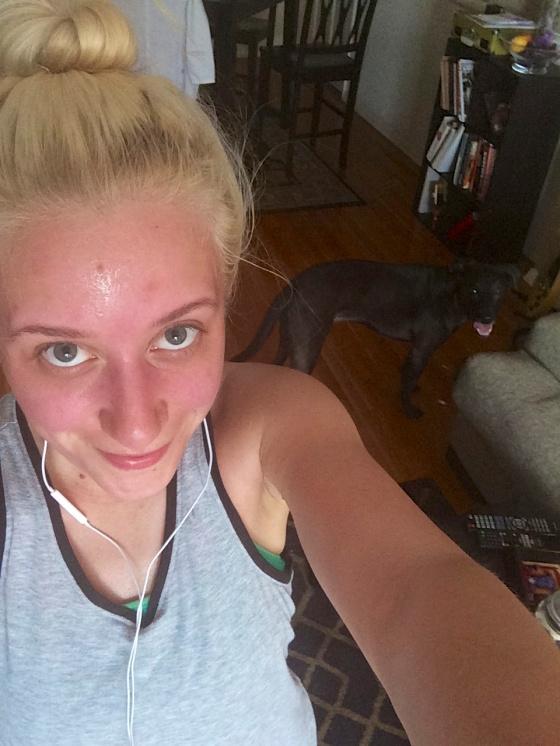 post run sweaty selfie