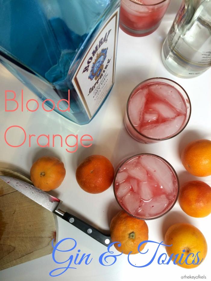 Blood Orange Gin and Tonics @thekeyofkels