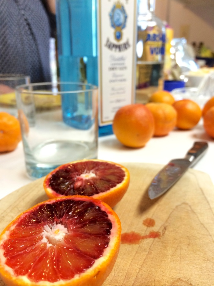 blood orange gin and tonics