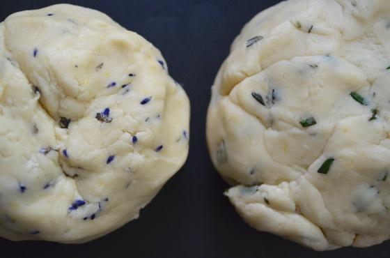 lavendar rosemary shortbread cookies