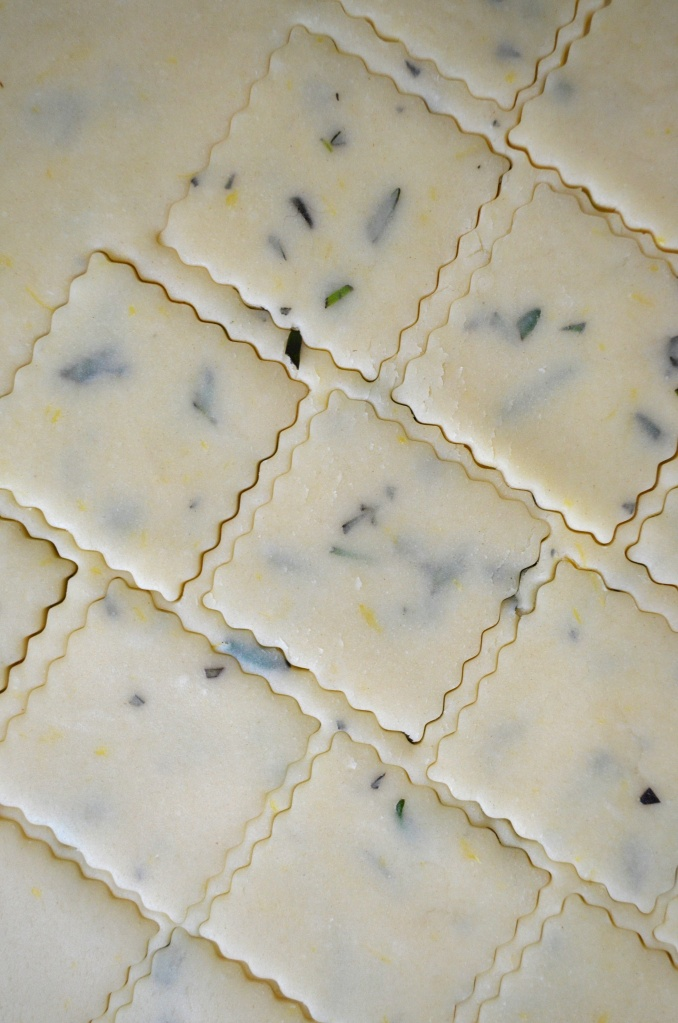 lavendar rosemary shortbread cookies