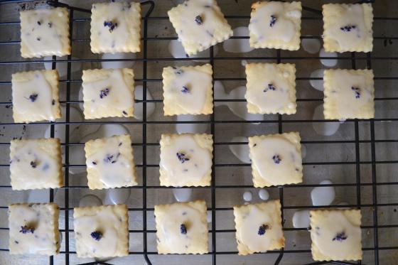 lavendar shortbread cookies