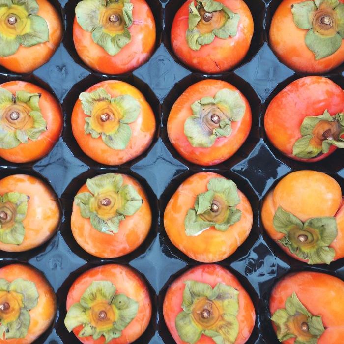persimmons at the santa monica farmers market